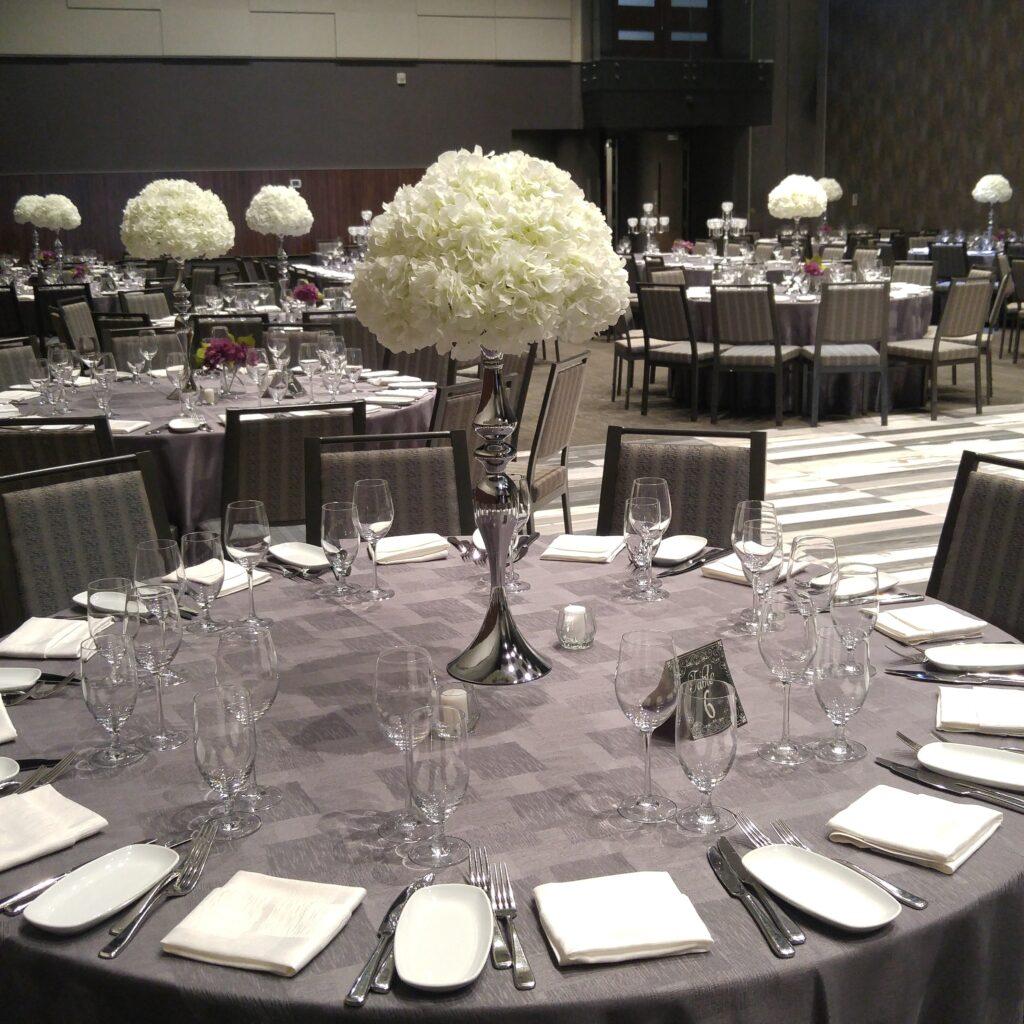 Hydrangeas Wedding Centerpieces