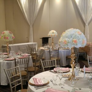 Artificial Roses and Ivory White Hydrangeas