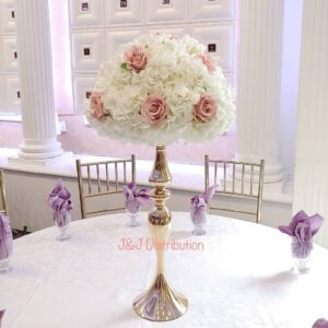 Artificial Blush Pink Roses Centerpieces