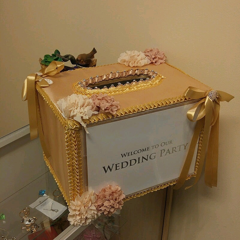 Gold Wedding Money Boxes