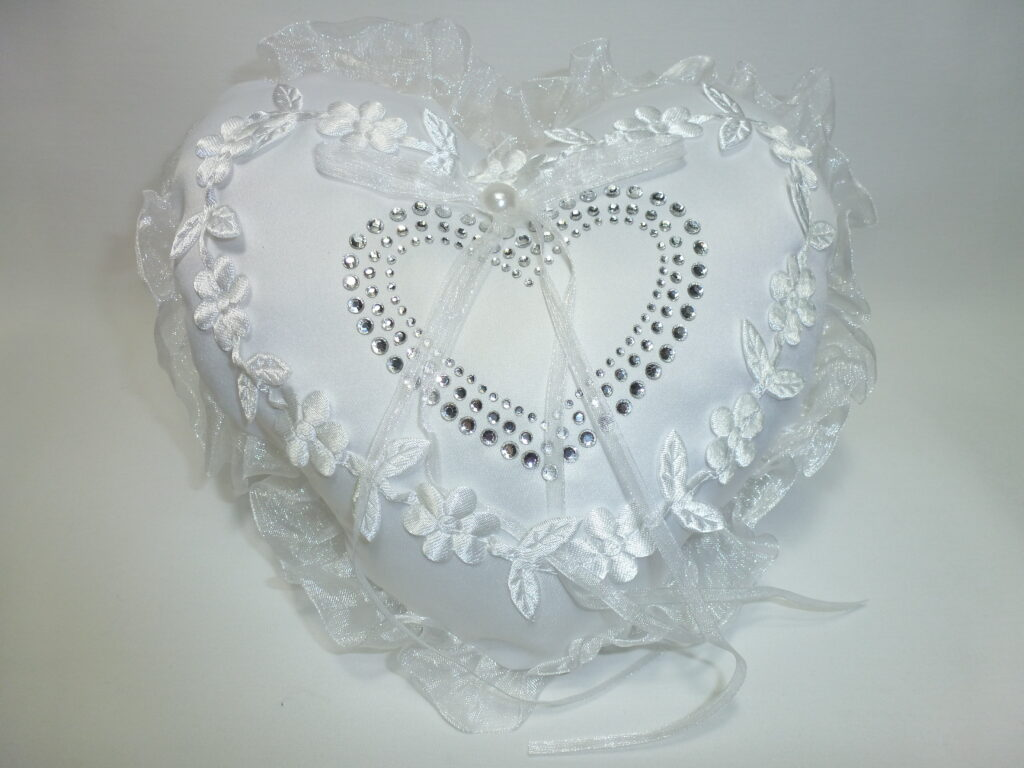 Wedding Ring Pillow Heart
