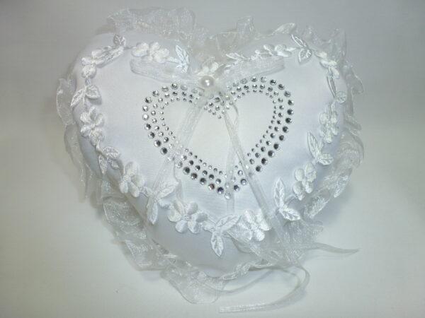 Wedding Ring Pillow Heart
