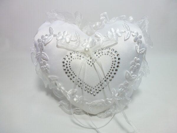 Wedding Heart Ring Pillow