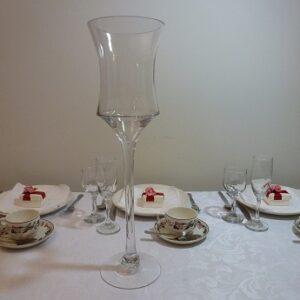 Hurricane Stem Glass Vase Centerpieces