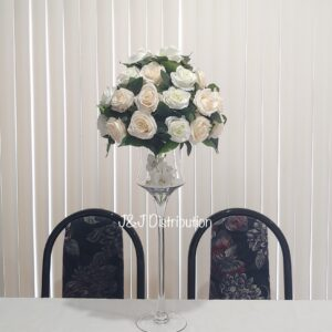 Silk Roses Flowers Centerpieces Rental