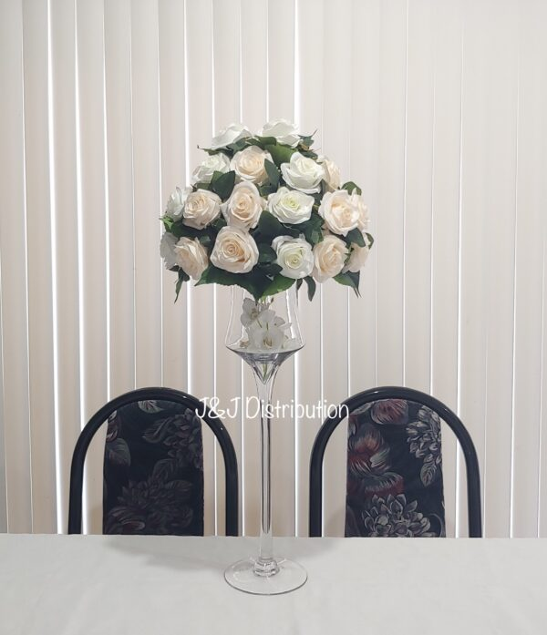 Silk Roses Flowers Centerpieces Rental